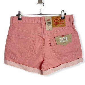 NWT Levi's 501 Denim Shorts Pastel High Waisted